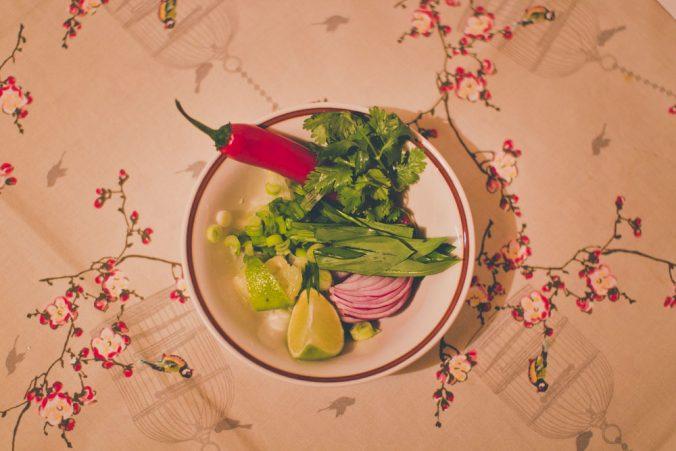 Zelenina do vietnamskej polievky Pho Bo