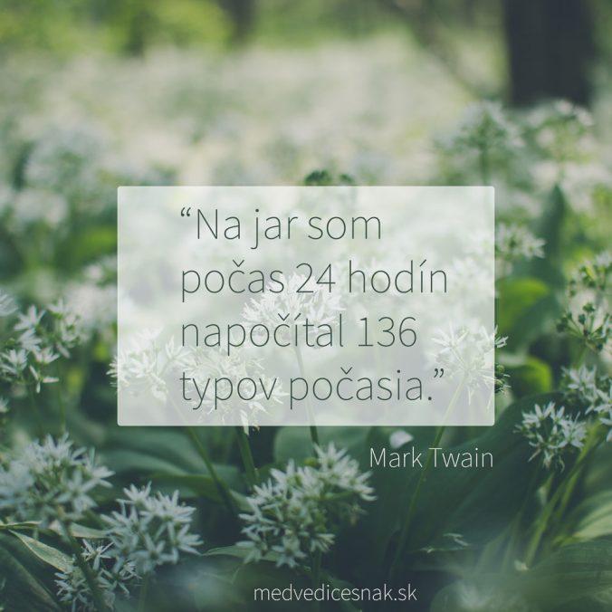Citát Marka Twaina o počasí na jar
